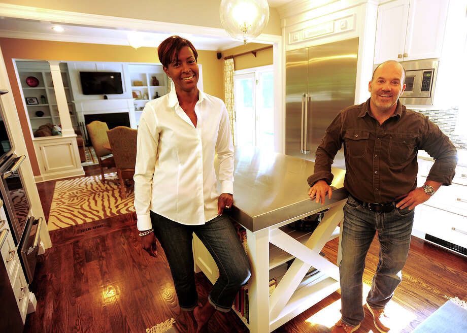Homeowner Bonita Bell, left, worked closely with contractor Antony Criscuolo, of Easton, to extensively remodel the ground floor of her Fairfield home. Photo: Brian A. Pounds / Connecticut Post