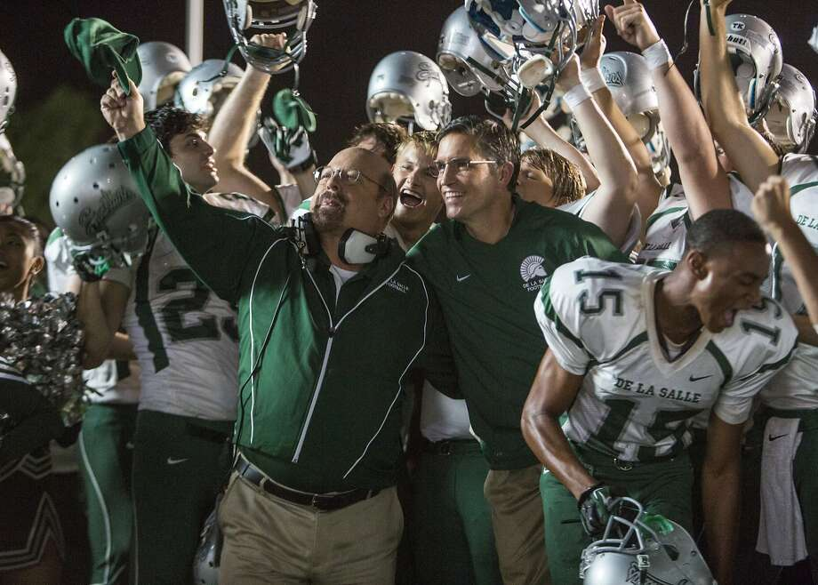"Jim Caviezel (center right) stars as De La Salle-Concord football coach Bob Ladouceur in ""When the Game Stands Tall."" Photo: TriStar Pictures"