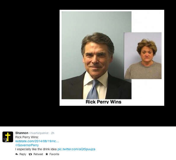 The official Rick Perry mug shot became a favorite to makeover and post by Twitter users.