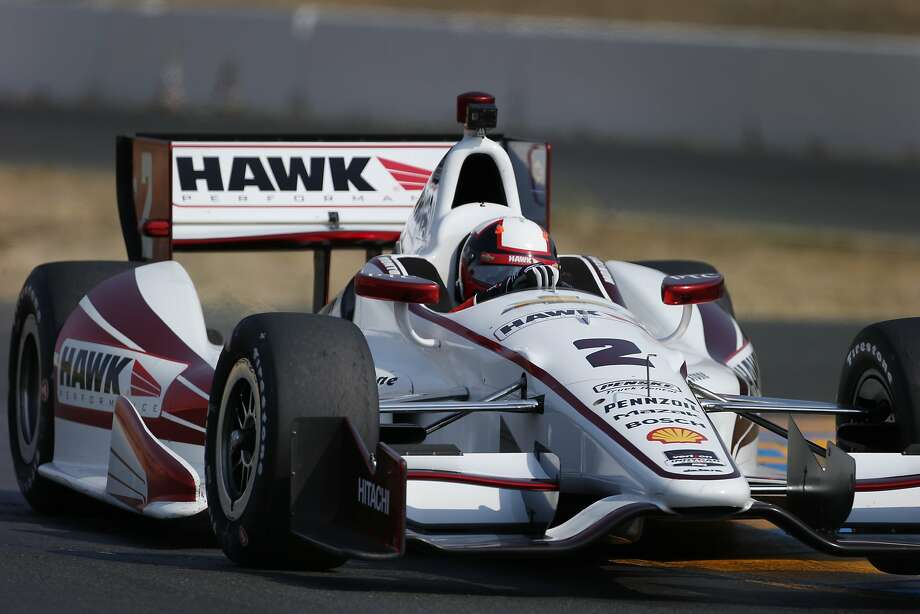 Juan Pablo Montoya, on a test run at Sonoma on Aug. 7, above, has won on the IndyCar, NASCAR and Formula One circuits. Photo: Brant Ward, San Francisco Chronicle