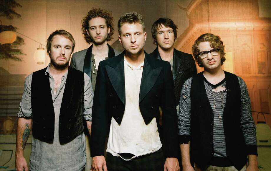 OneRepublic — Eddie Fisher (from left), Brent Kutzle, Ryan Tedder, Zach Filkins and Drew Brown — will close out a stellar summer concert season at Freeman Coliseum on Monday. Photo: Interscope Records