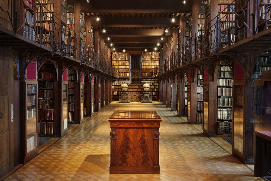 The Nottebohm Room at the Hendrik Conscience Heritage Library in Antwerp, Belgium, opened in 1936. Photo: Ans Brys / ans brys