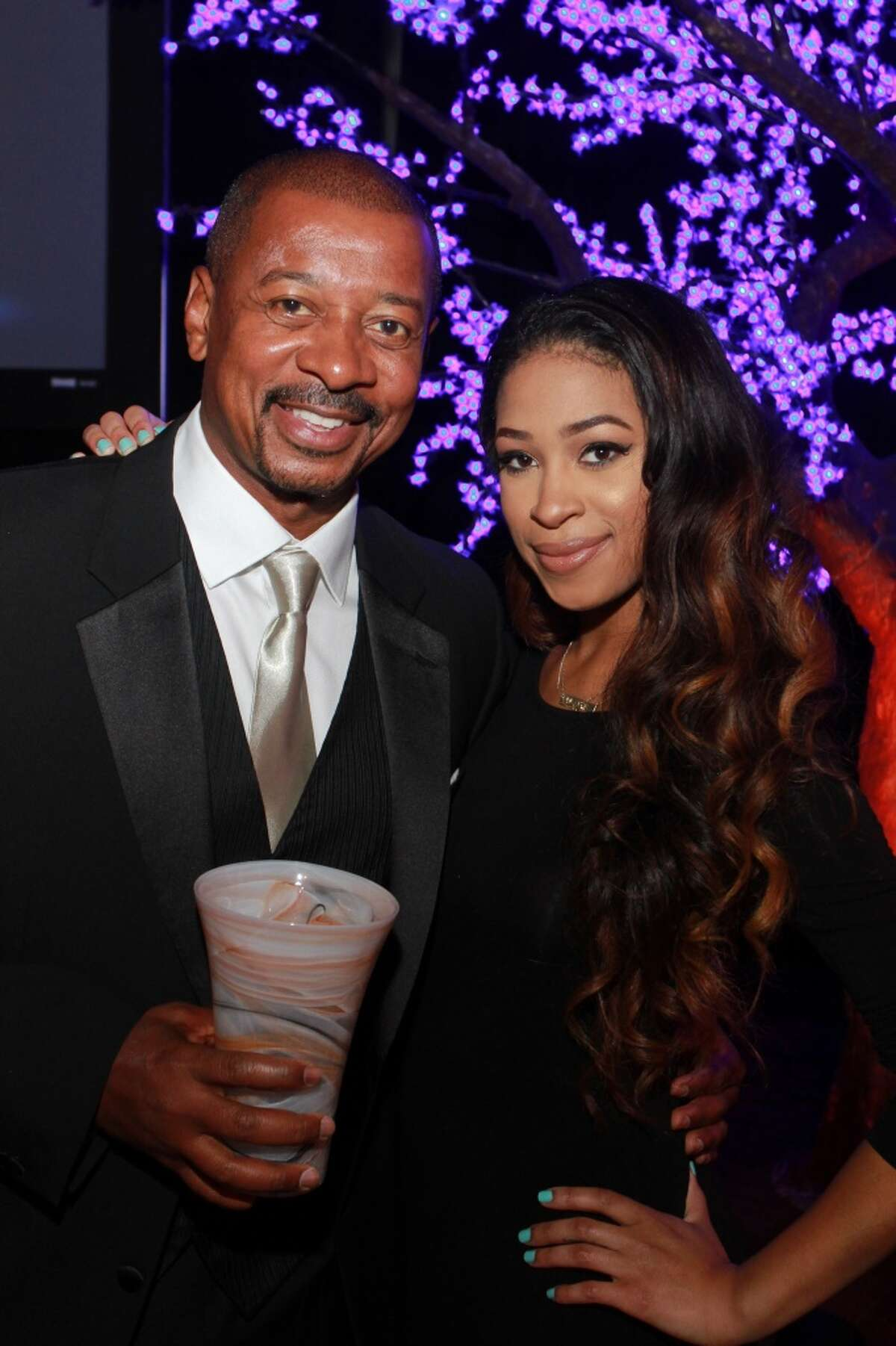 Director of the Year, Robert Townsend, holds his award, with his daughter, Skye Townsend