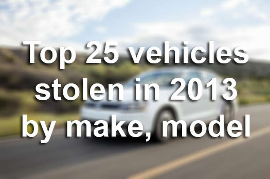 The National Insurance Crime Bureau has listed the most stolen vehicles in country and state, and the results are surprising. Click through the slideshow to see the 25 most stolen vehicles by make and model in the U.S. in 2013.