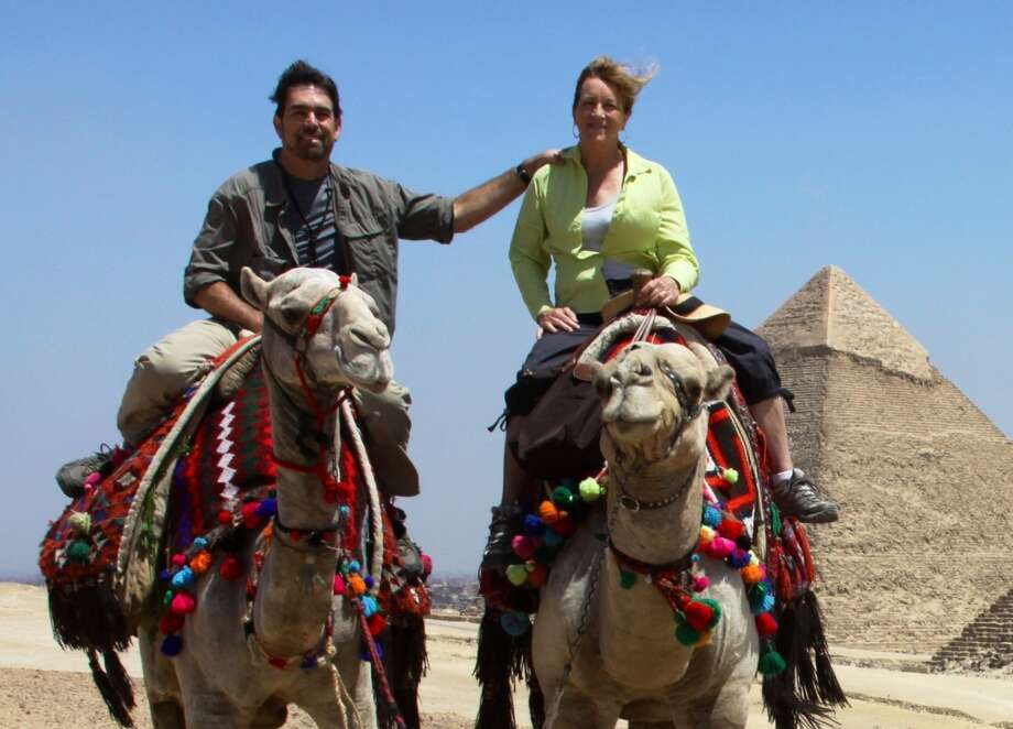 Kevin and Cathy McCullough of Santa Rosa in Giza, Egypt. Photo: Courtesy Kevin McCullough / Courtesy Kevin McCullough / ONLINE_YES