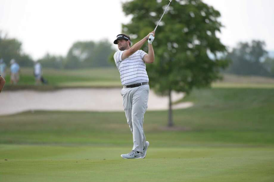 Stamford's Mike Ballo Jr. competes during the second round of the 99th Met Open at the Trump National Golf Club in Bedminster, N.J. on Wednesday, August 20, 2014. Photo: Contributed Photo, Metrropolitan Golf Association/C / Stamford Advocate Contributed