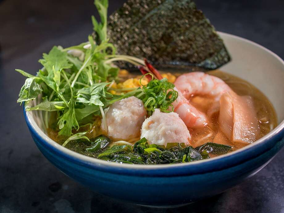 The Shrimp & Crab Dumpling Ramen at the Ramen Bar  in San Francisco, Calif. is seen on August 15th, 2014. Photo: John Storey, Special To The Chronicle