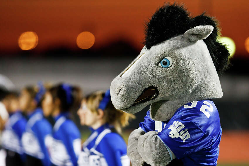 1. The Jay players who hit the official, sophomore Victor Rojas and senior Mike Moreno, have been suspended from the team.Photo: John Jay mascot prior to the Brandeis - John Jay football game at Gustafson Stadium on Oct. 23, 2009.