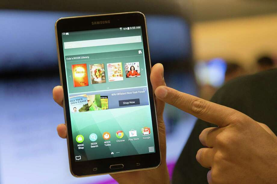 The Samsung Galaxy Tab 4 Nook will replace bookseller Barnes & Noble's own Nook tablets. Photo: John Minchillo, FRE / FR170537 AP