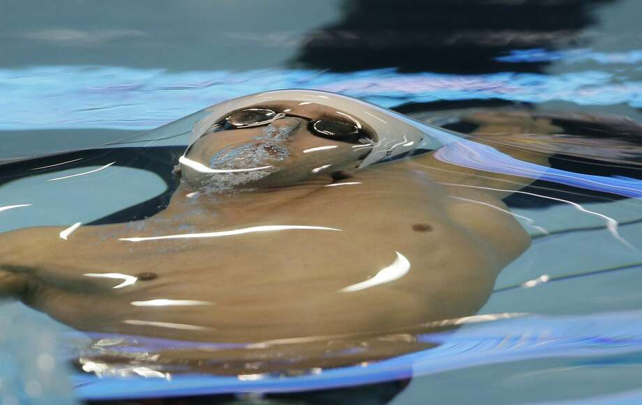Israel's Guy Barnea competes in a men's 50m backstroke semifinal at the LEN Swimming European Championships in Berlin, Germany, Wednesday, Aug. 20, 2014. (AP Photo/Gero Breloer) Photo: Gero Breloer, Associated Press