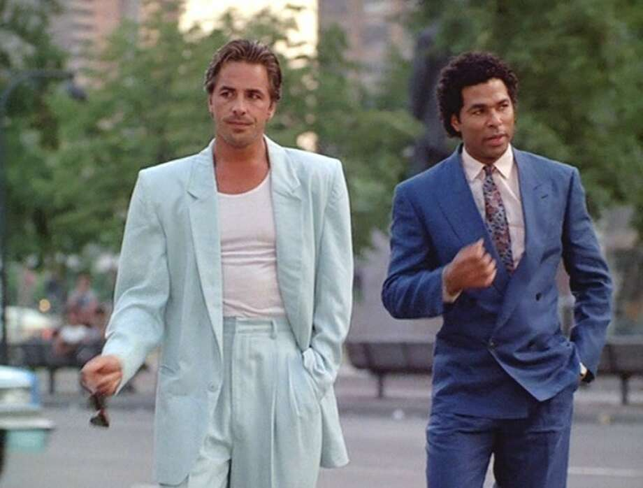 "Don Johnson and Philip Michael Thomas in ""Miami Vice."" Photo: NBC 1985 / ONLINE_YES"