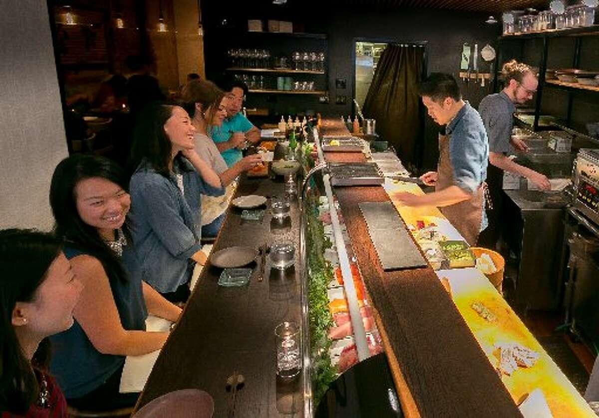 The sushi bar at Akiko's