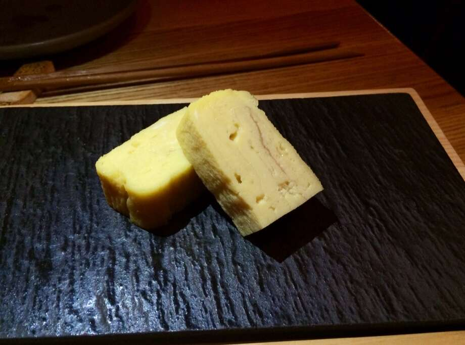 Tamago, a Japanese omelet with a hint of sweetness