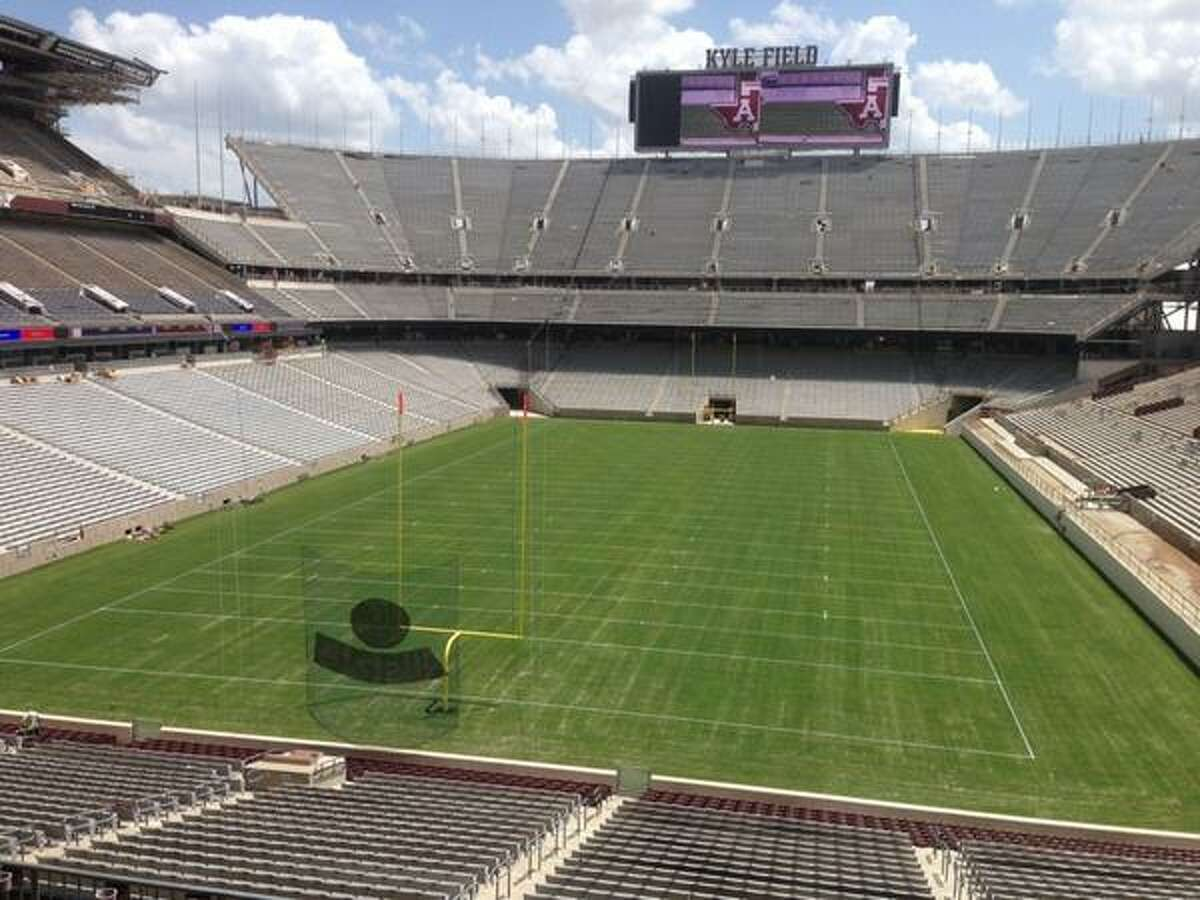 School:  Texas A&M Capacity: 102,512 Name: Kyle Field Built: 1927