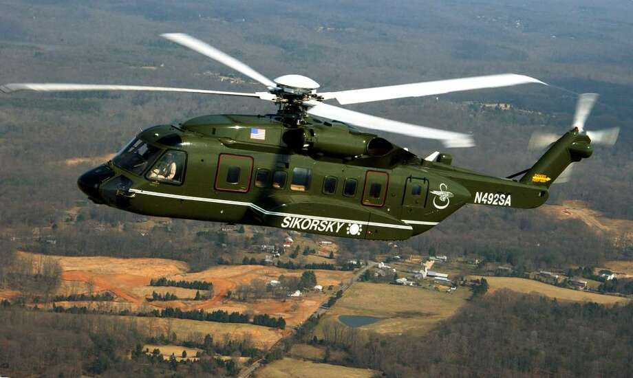 This image provided by Sikorsky Aircraft Corp. in 2005 shows Sikorsky's VH-92 Super Hawk, which was then competing with Lockheed Martin Corp.'s US101, to be the new presidential helicopter Marine One. Photo: AP / SIKORSKY AIRCRAFT CORP.