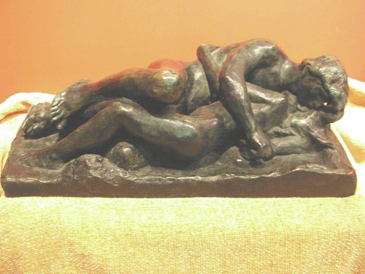 """Greenwich art collector Richard McKenzie Jr. says this sculpture, """"Amour et Psyché II"""" by Rodin, is a forgery sold to him by dealer Robert Fishko, director of the Forum Gallery in Manhattan."""