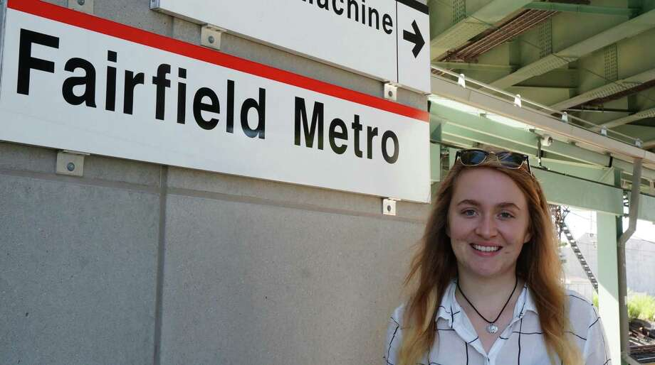 Fordham University junior and Bridgeport resident Katie Fredericks has started an online petition that asks the state to open some bathrooms at the Fairfield Metro train station. Photo: Genevieve Reilly / Fairfield Citizen