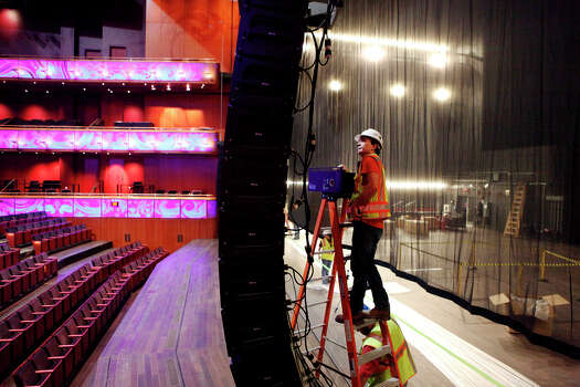 Finishing touches are done to the H-E-B Performance Hall Aug. 20, 2014 inside the Tobin Center for the Performing Arts for its opening date of Sept. 4, 2014. Photo: CYNTHIA ESPARZA, FOR THE SAN ANTONIO EXPRESS-NEWS / FOR THE SAN ANTOINO EXPRESS-NEWS