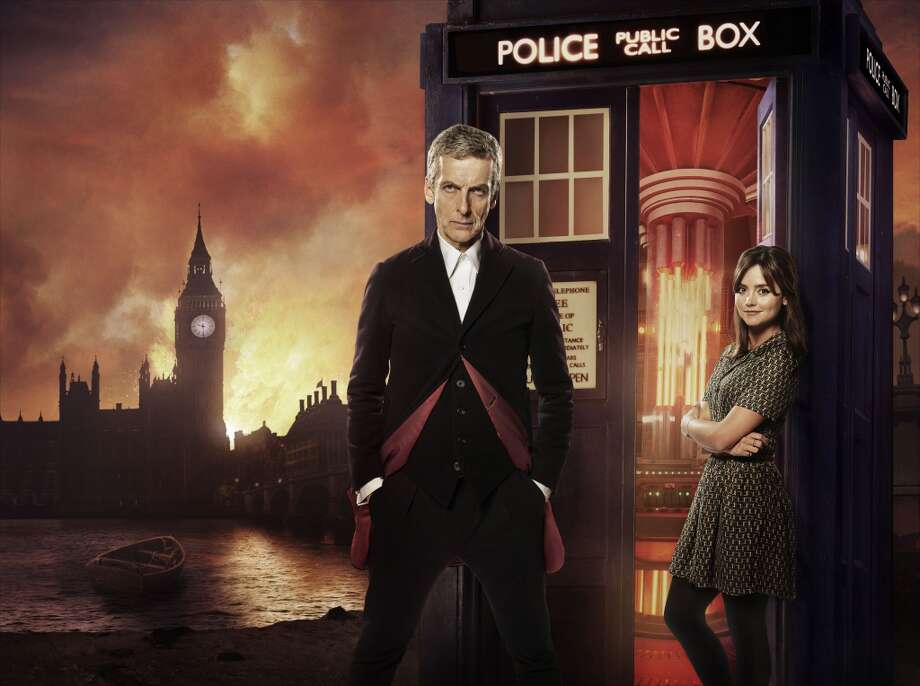 Peter Capaldi as the newest Doctor and Jenna Coleman as companion Clara Photo: Ray Burmiston (photographer)/Ali, BBC AMERICA