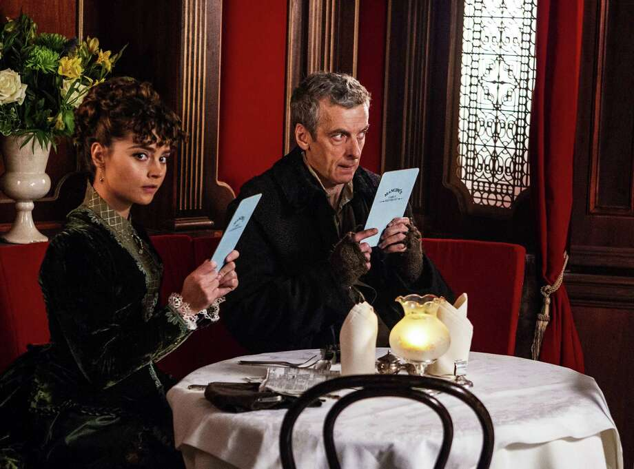 """The new season of """"Doctor Who"""" starts Saturday with Peter Capaldi as the Doctor and Jenna Coleman as his companion, Clara. Photo: Handout, HO / MCT"""