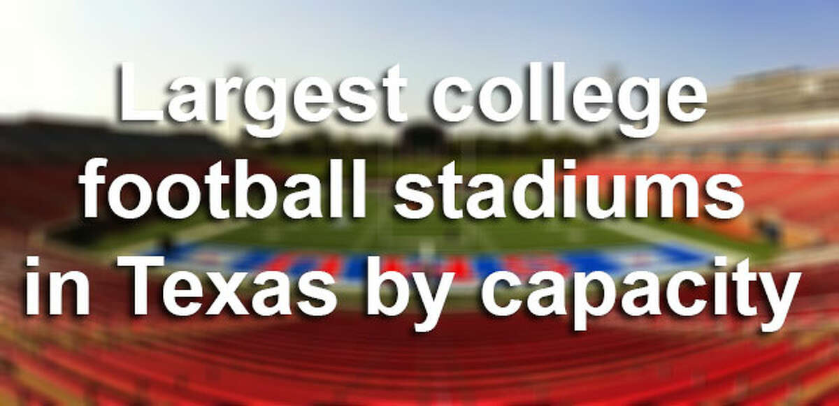 Many schools in the state have spent millions in a rivalry for the biggest stadium with the best amenities in the Lone Star State and beyond.Click through the gallery for a complete list of the largest football stadiums in Texas, ranked by capacity.
