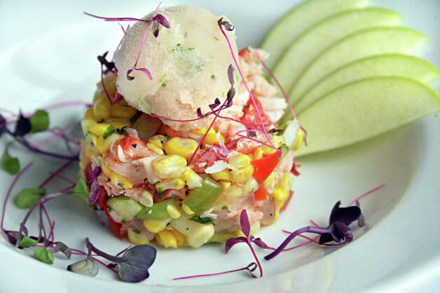 Lobster and corn salad at One Six Five in the Normanside Country Club Friday, Aug. 15, 2014, in Delmar, N.Y.  (John Carl D'Annibale / Times Union) Photo: John Carl D'Annibale / 00028153A