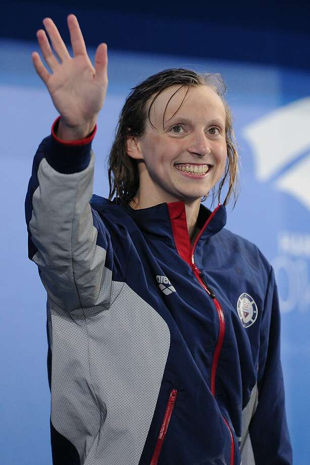 Katie Ledecky nearly matched her world record in the 800 freestyle. Photo: Matt Roberts, Getty Images