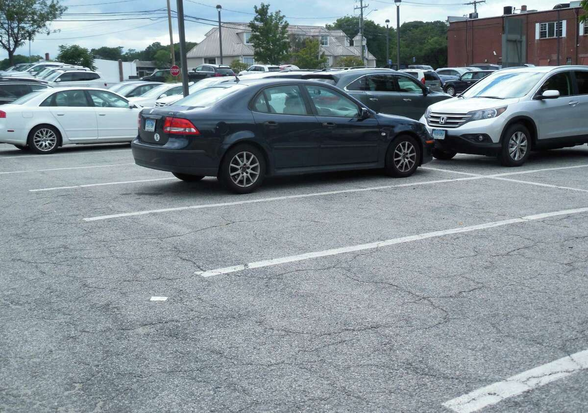 Some empty parking spaces were seen one weekday afternoon at the Baldwin parking lot.