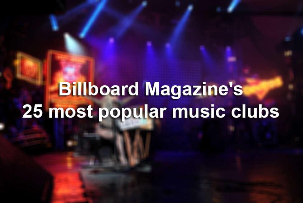 Billboard Magazine named three Texas venues in its list of