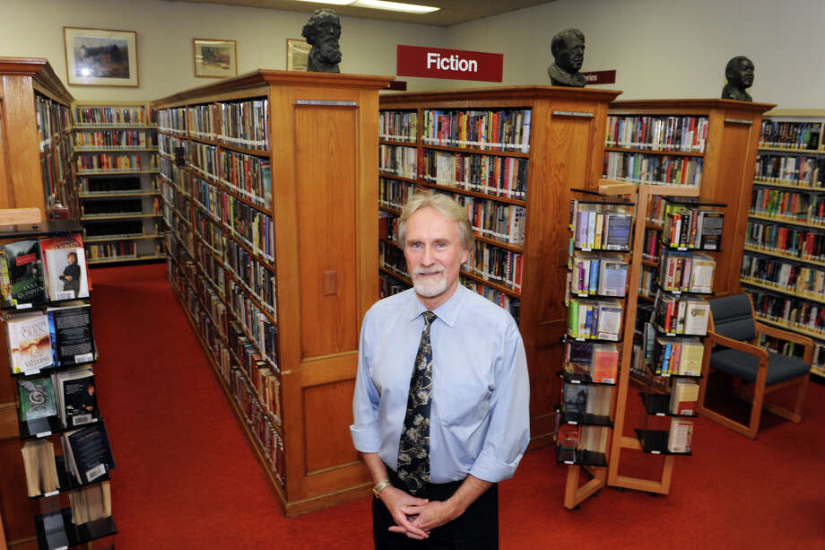 Mark Hasskarl is Library Director at New Milford Public Library, in New Milford, Conn. Aug. 21, 2014. Photo: Ned Gerard / Connecticut Post