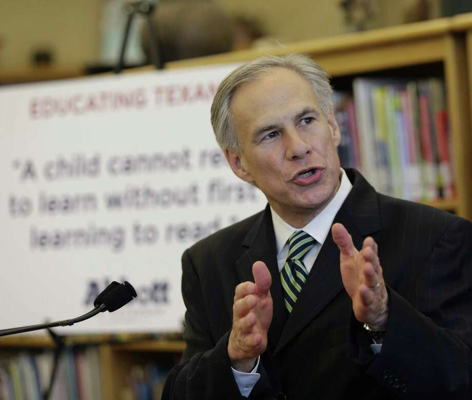 A reader criticizes Attorney General and Republican gubernatorial candidate Greg Abbott for the numerous lawsuits he has filed, including a recent suit against the Environmental Protection Agency. Photo: Eric Gay / Associated Press / AP