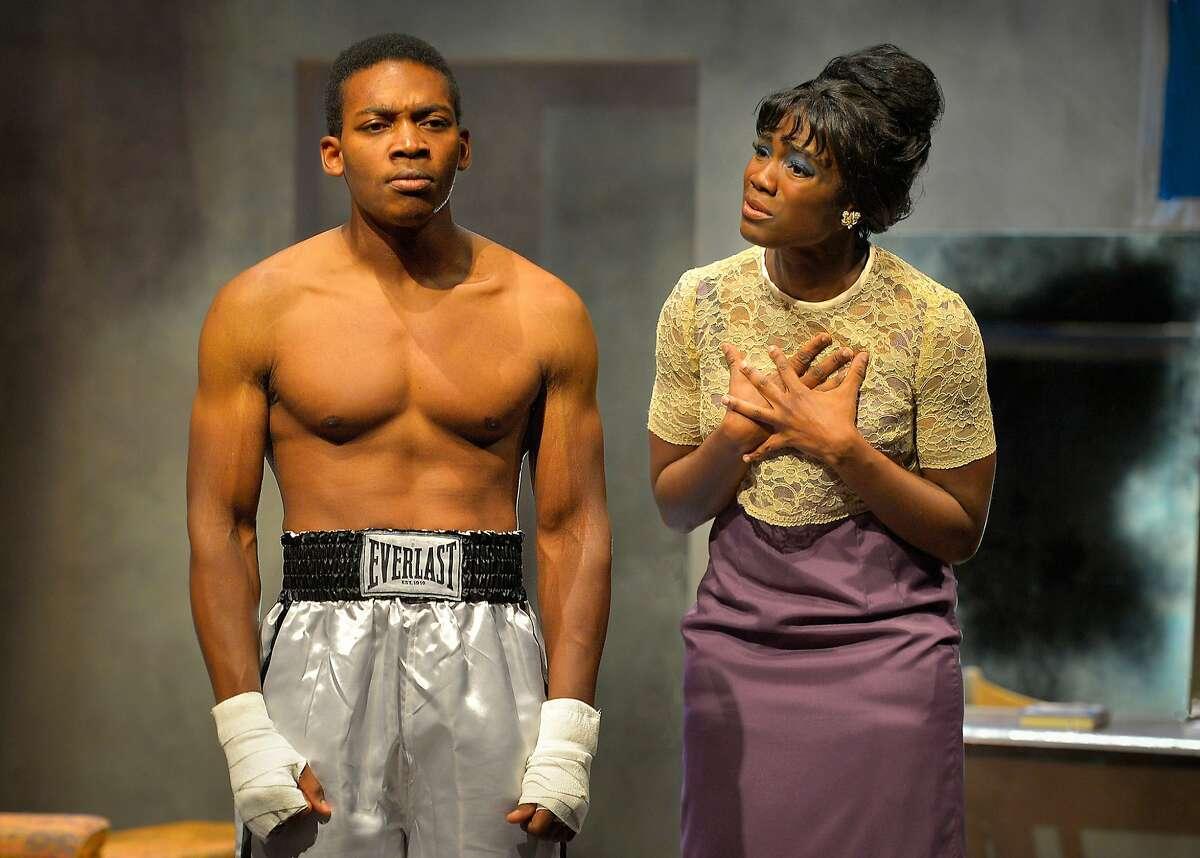 Muhammad Ali (Eddie Ray Jackson, left) and wife Sonji Clay (Katherine Renee Turner) in Marin Theatre Company's