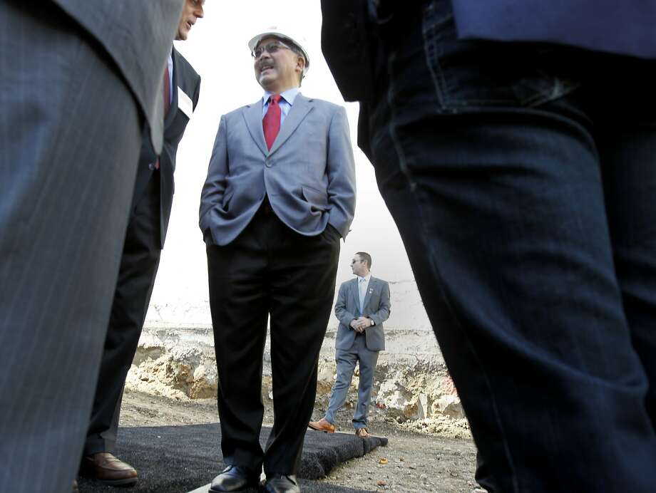 Mayor Ed Lee, at a groundbreaking ceremony for a Brannan Street development, has made affordable housing a priority. Photo: Brant Ward, San Francisco Chronicle
