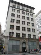The Spring Valley Water Company at 425 Mason St. is a building from 1922 that is unremarkable except for one unique feature: a sculptural base that resembles water gushing down the facade.
