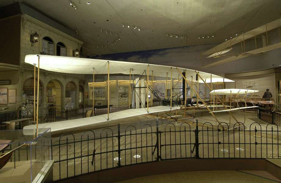 The original 1903 Wright Flyer is on exhibit at the Smithsonian's National Air and Space Museum. Photo: Smithsonian Institution / San Antonio Express-News