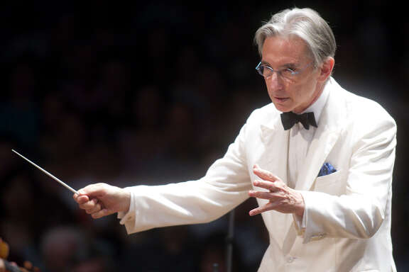 Michael Tilson Thomas, shown at the Boston Symphony Orchestra's summer season at Tanglewood in 2010, celebrates 20 years at the helm of the San Francisco Symphony this year — and he turns 70.