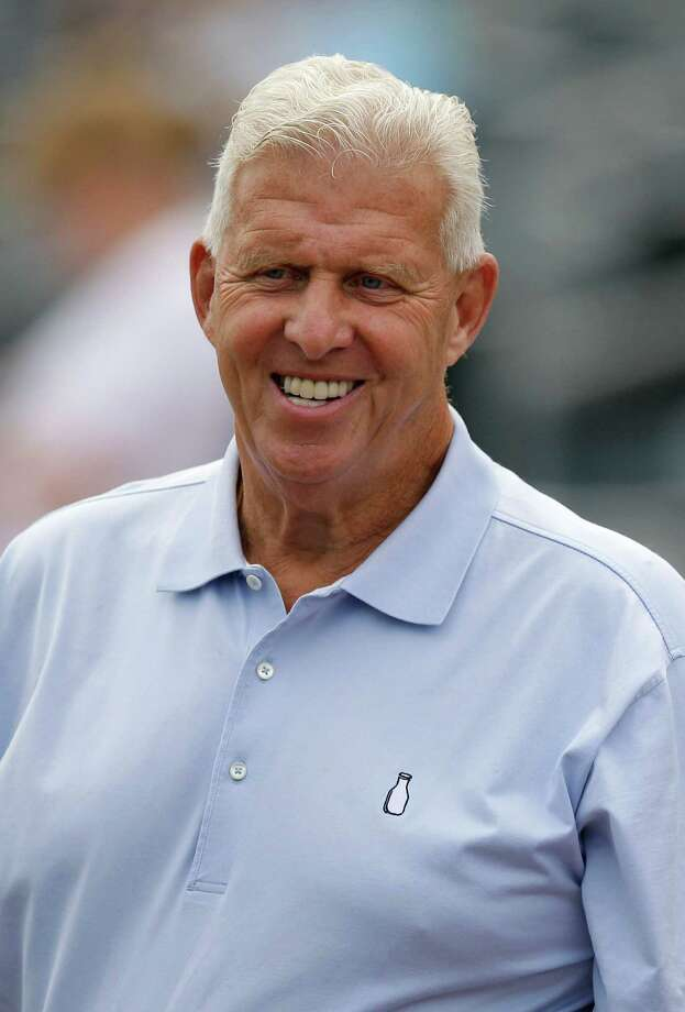 FILE - This March 30, 2012 file photo shows retired NFL football coach Bill Parcells watching batting practice before a spring training baseball game between the New York Mets and the St. Louis Cardinals in Jupiter, Fla. The NFL upholds its punishment of the Saints stemming from the team's bounty system, although financial penalties could be reduced. Coach Sean Payton is suspended for the 2012 season, and among the candidates to replace him are the club's top assistants and retired coach Bill Parcells.  (AP Photo/Patrick Semansky, File) Photo: Patrick Semansky / AP