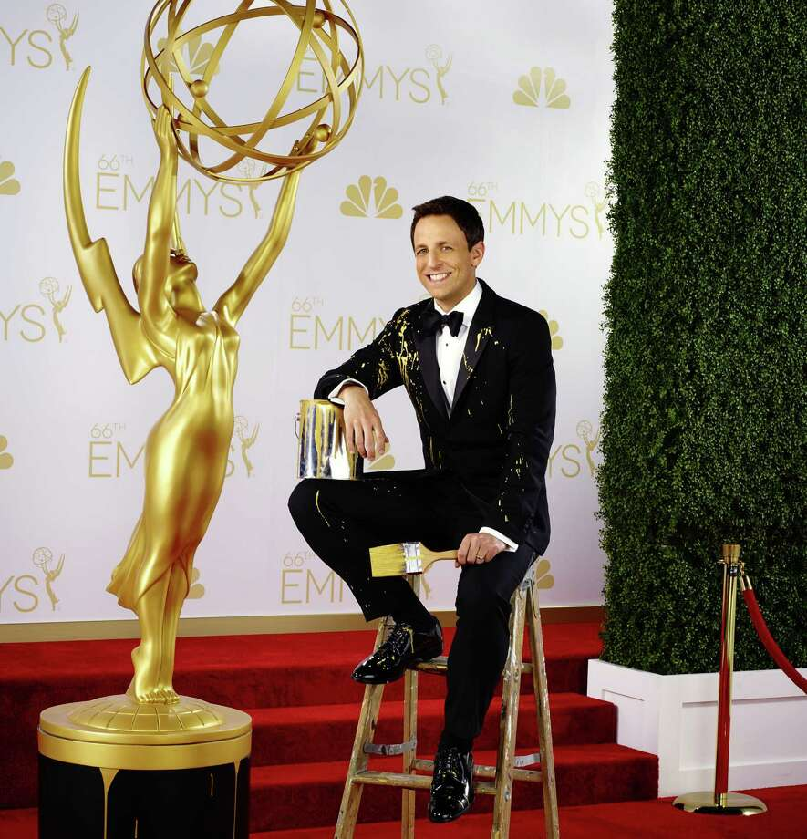 "Seth Meyers, host of the ""The 66th Primetime Emmy Awards"" on NBC, promises humor that's more playful than cutting. Photo: Rodolfo Martinez / NBC / 2014 NBCUniversal Media, LLC"