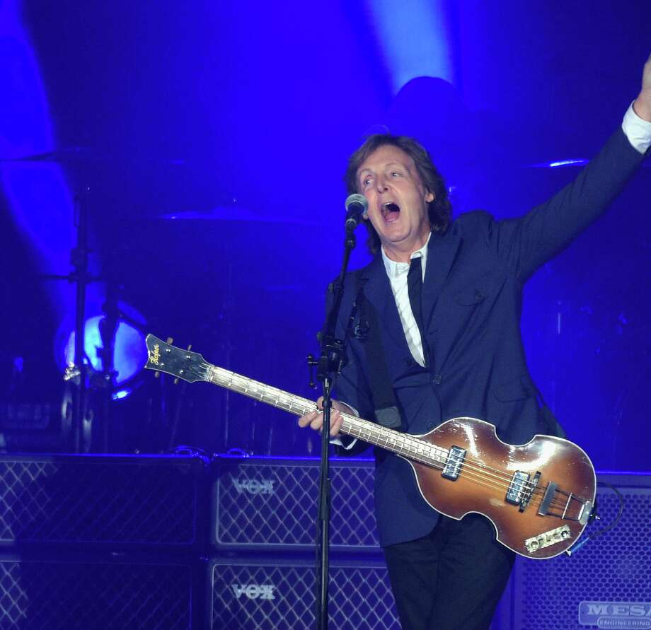 Paul McCartney plays the Tobin Center for the Performing Arts Oct. 1. Ticket buyers paid mega dollars to see Macca. Photo: Getty Images / 2014 Getty Images