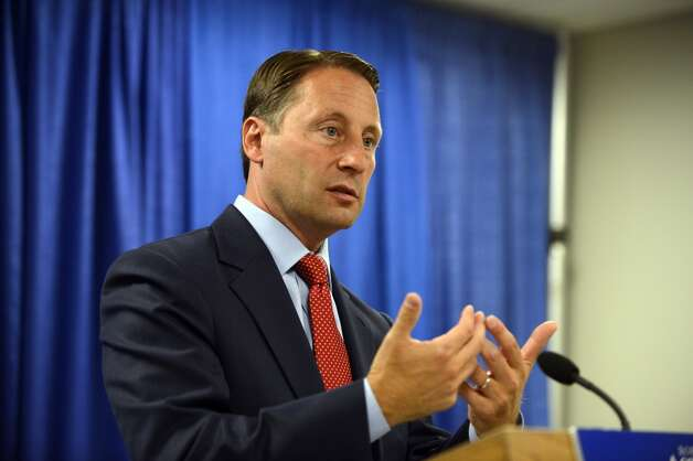 Republican gubernatorial candidate Rob Astorino unveils a new economic plan aimed at improving the state's business climate and promoting growth Thursday, Aug. 21, 2014, during a news conference at the Legislative Office Building in Albany. Photo: Will Waldron, Albany Times Union