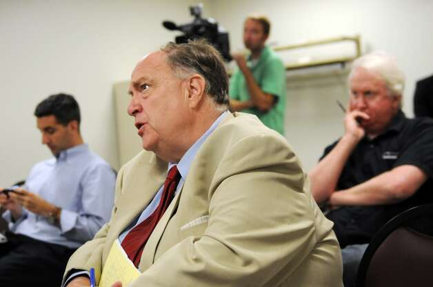 NewsChannel 13 reporter Bill Lambdin poses a question to Rob Astorino, Republican candidate for governor, Thursday, Aug. 21, 2014, during a news conference at the Legislative Office Building in Albany. Lambdin's last day with NewsChannel 13 is Friday. Photo: Will Waldron, Albany Times Union