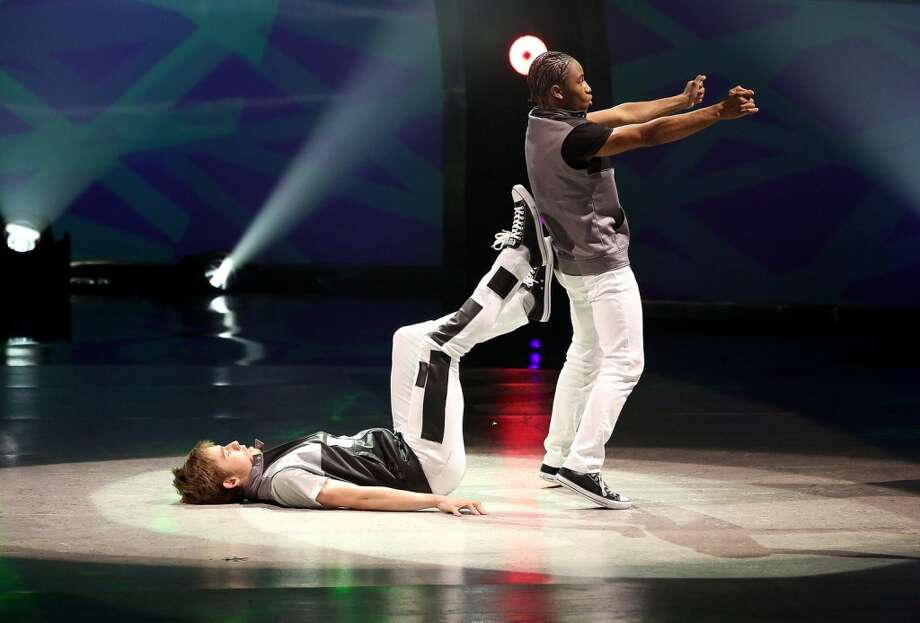 "SO YOU THINK YOU CAN DANCE: L-R: Top 6 contestant Zack Everhart Jr. and all-star Fik-Shun perform a Hip-Hop routine to ""Sail (Unlimited Gravity Remix)"" choreographed by Phillip Chbeeb on SO YOU THINK YOU CAN DANCE airing Wednesday, August 20 (8:00-10:00 PM ET/PT) on FOX. ©2014 FOX Broadcasting Co. Cr: Mike Yarish"