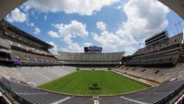 The first phase of the renovation of Kyle Field, with seating for more than 100,000, will be ready for the Aggies' home opener against Lamar on Sept. 6. Completion of the $450 million project is scheduled in time for the start of the 2015 season.