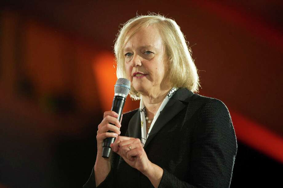Hewlett-Packard, led by CEO Meg Whitman, was the biggest gainer Thursday in the S&P 500. Photo: David Paul Morris / © 2013 Bloomberg Finance LP
