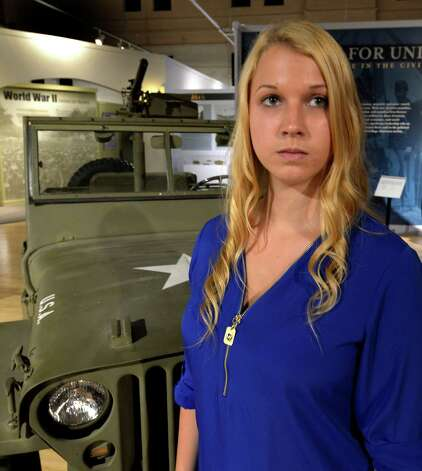 Mackenzie Waterston continues her research on the troops missing in action on the Island of Saipan Thursday afternoon Aug. 21, 2014, at the NYS Military Museum in  Saratoga Springs, N.Y. Waterston is leaving for Saipan tomorrow to continue her research.    (Skip Dickstein/Times Union) Photo: SKIP DICKSTEIN