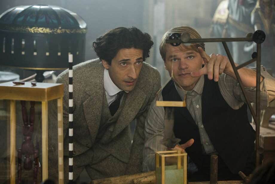 Houdini (Adrien Brody, left) with Jim Collins (Evan Jones), who becomes the showman's assistant and invents the devices used in the various stage acts. After Houdini is joined by Collins, his career starts to really take off. Photo: Colin Hutton