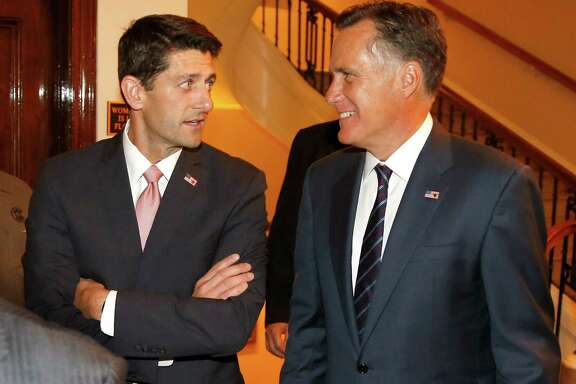 Mitt Romney, right, and U.S. Rep. Paul Ryan, R-Wis., retain a mutual admiration for one another.