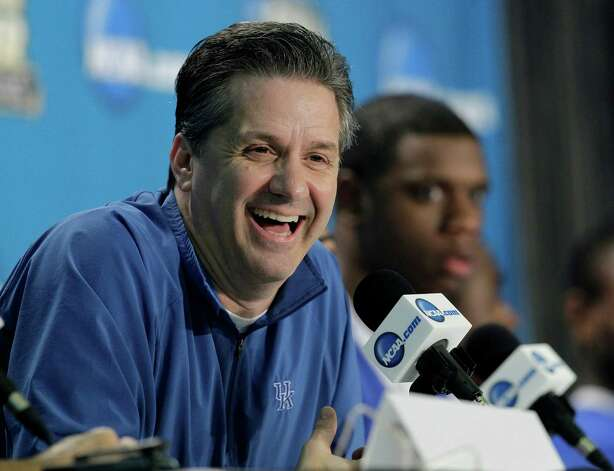 Kentucky head coach John Calipari speaks during a news conference for the NCAA Final Four tournament college basketball game Sunday, April 1, 2012, in New Orleans. Kentucky plays Kansas in the championship game Monday night. (AP Photo/Mark Humphrey) Photo: Mark Humphrey / AP