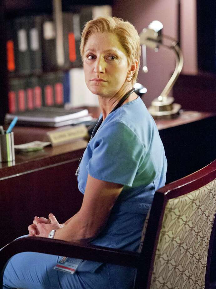 "Edie FalcoNominee: Outstanding Lead Actress in a Comedy Series for ""Nurse Jackie"" Photo: David M. Russell, HONS / Showtime"