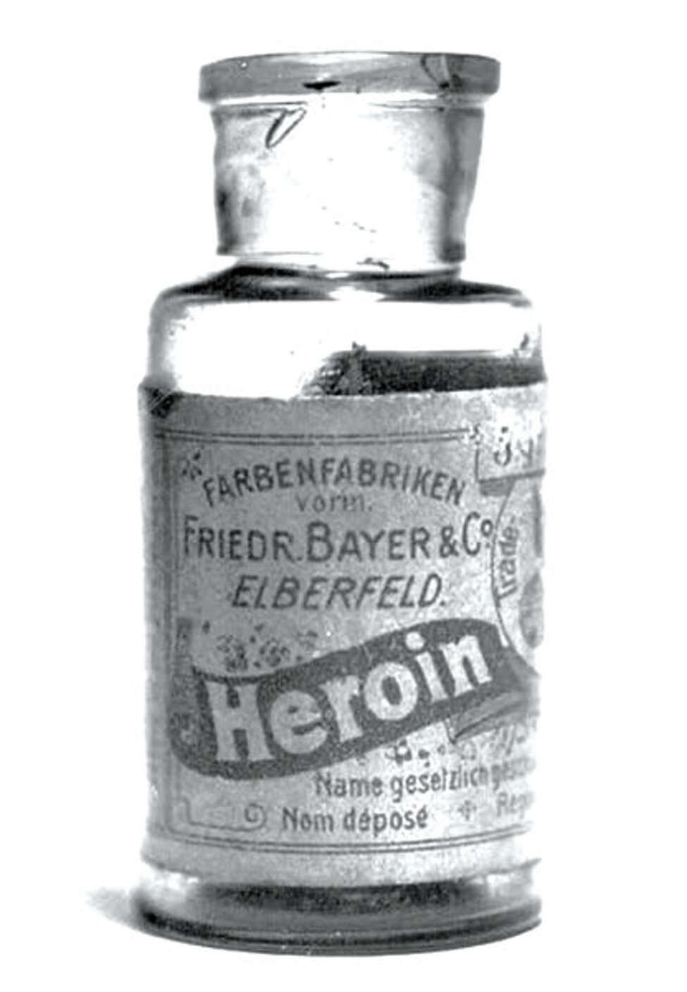 Drug History: One of the original bottles of Heroin produced by the Bayer Company.
